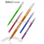 Translucent stick pen with frosted barrel
