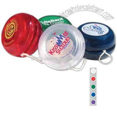Translucent yo-yo with trick string and instructions