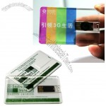 Transparent Credit Card USB Flash Drive