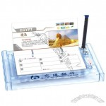 Transparent Crystal Desk Calendar with Pen Stand and Thermometer