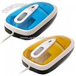 Transparent Mini Laptop Desktop PC 3D Scroll PS2 USB Optical Mouse