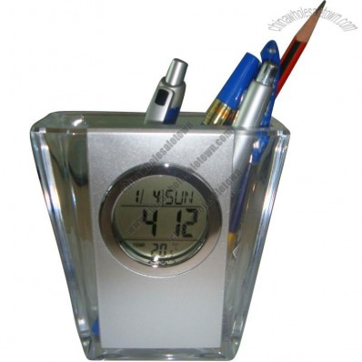 Transparent Pen Holder with Calendar