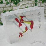 Transparent Plastic Shoe Box with Handle and 0.8mm Thickness