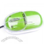 Transparent Wired Mini 3D Optical Mouse