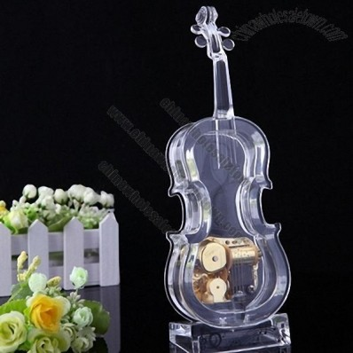 Transparent acrylic cello music box