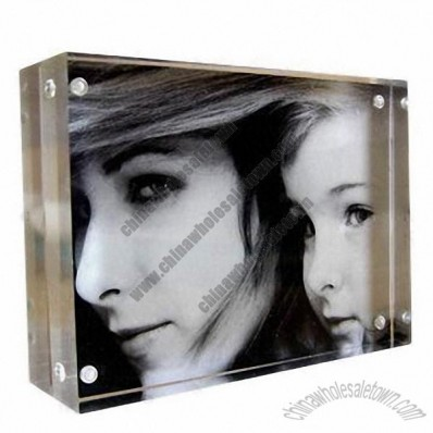 Transparent acrylic sexy picture/photo frame with 8 magnetic