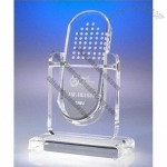 Transparent fancy turnover acrylic trophy