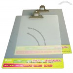 Transparent frosted WordPad with Metal Clip