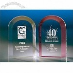 Transparent polished corporate acrylic trophy/award/present