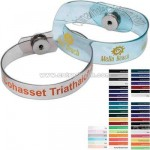 Transparent vinyl bracelets with metal snap