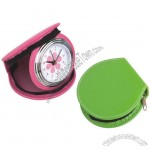 Travel Alarm Leather Clocks with Zipper Closed