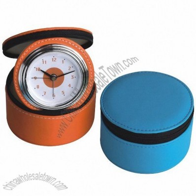 Travel Leather Clock