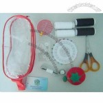 Travel Sewing Kit in a PVC Bag, Includes Safety Pins, Needles and Threads