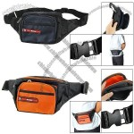 Travel Sports 4 Compartments Zipped Nylon Waist Bag Pack