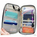 Travel Wallet Passport Holder Document Organizer with Adjustable Strap