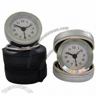 Travelling Leather Case Alarm Clock