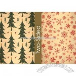 Tree Farm Kraft Reversible Wrapping Paper