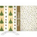 Tree Stripes Reversible Wrapping Paper