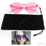 Trendy Vivid Candy Color Vintage Transparent Sunglasses
