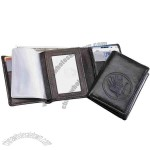 Tri-Fold Wallet. Made of full grain cowhide leather with leather lining