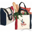 Tri-color Premium Zipper convention Tote Bag