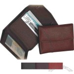 Tri-fold wallet with zippered compartment for change