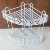 Triangle Bathroom Storage Rack In White