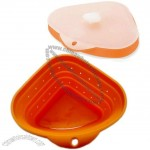 Triangle Collapsible Silicone Strainer With Lid