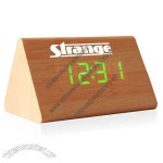 Triangle Wooden LED Digital Alarm Clock