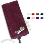 Trifold premium cotton velour golf towel.