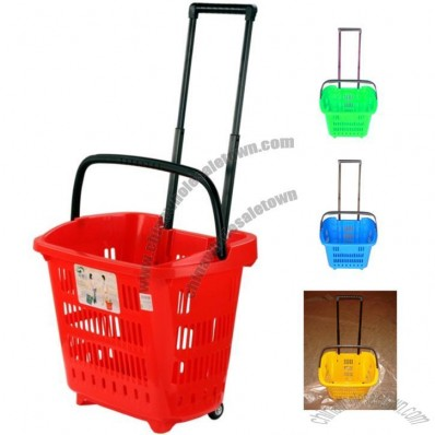 Trolley Basket 34L Shopping Basket