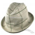 Tropic Plaid Player Fedora hat
