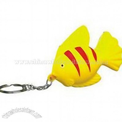 Tropical Fish Stress Ball Keychain