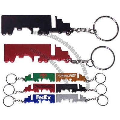 Truck shape bottle opener with key chain