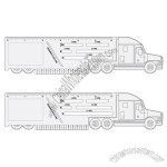 Trucker Logbook Ruler Truck