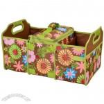 Trunk Organizer and Cooler Set - Floral
