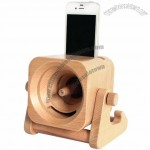 Turbo Prop Engine Wooden Sound Amplifier Stand Speaker Phone Holder Dock