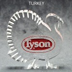 Turkey Shaped Acrylic Fall Award