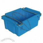 Turnover Plastic Crate With Metal Handle 455x335x205mm