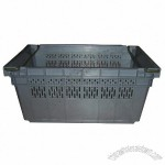 Turnover Plastic Crate With Metal Handle