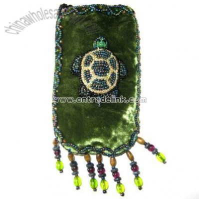 Turtle Cell Phone Pouch-Olive