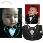Tuxedo Baby Bib with 3D Applique