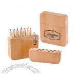 Twelve piece colored pencil set with sharpener