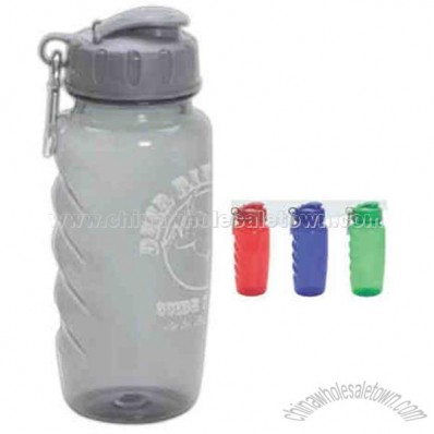 Twenty-six ounce BPA free Flipper bottle with matching color carabiner