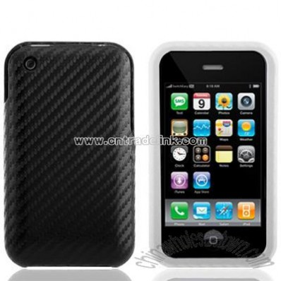 Twill Series iPhone Case 3G / 3GS Leather Case-Black/White
