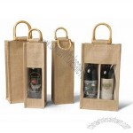Two- Bottle Jute Vino-Sack with Window