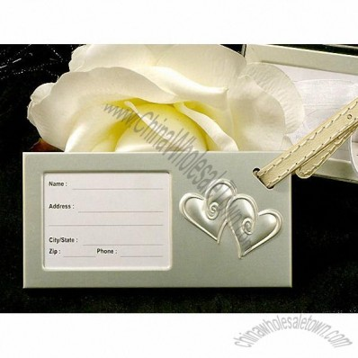 Two Hearts Beat As One Luggage Tag Wedding Favors