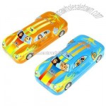 Two layer pencil case with car shape