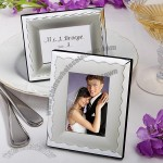 Two-tone Silver Metal Place Card Frames