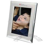 Two tone matte silver and chrome photo frame